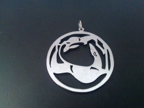Greyhound hare pendant sterling silver Handmade Design by Marianne Felix